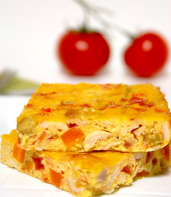 Five Quarters of the Orange: Chicken with tomato and pepper frittata