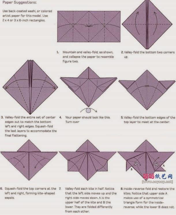 Cara Membuat Origami Bunga Anggrek Orchid Cara Membuat Origami Bunga Binatang Bintang Naga
