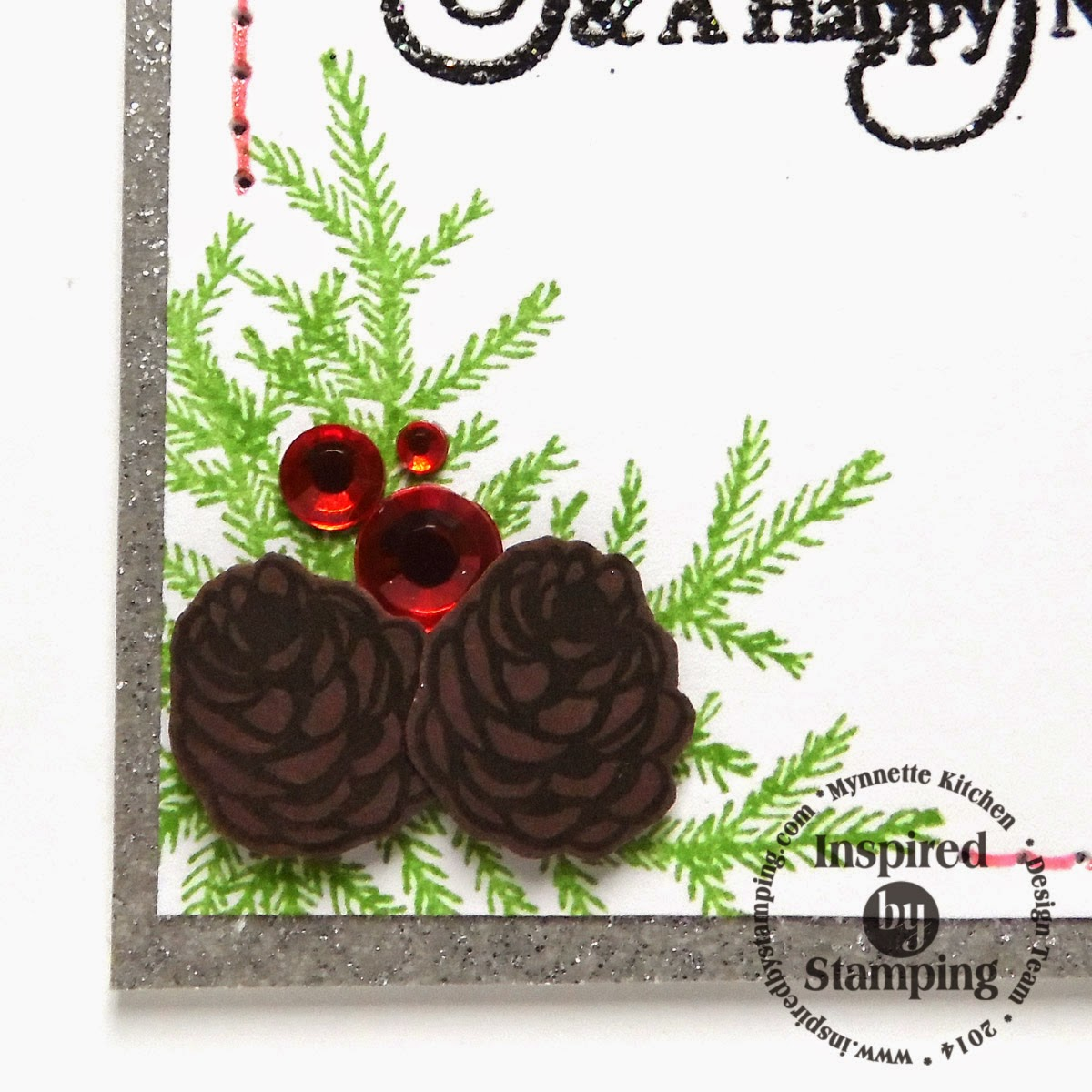 Inspired by Stamping, Mynn Kitchen, Big Holidays stamp set, Christams Wreath stamp set, Christmas card, Holiday card