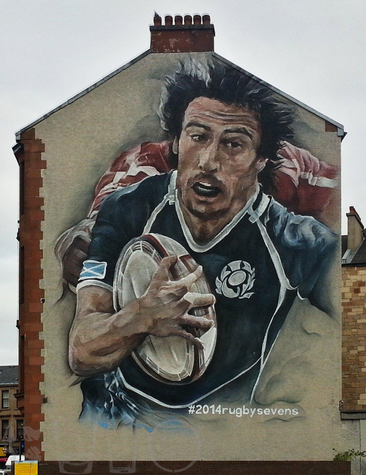 #2014rugbysevens mural, Glasgow