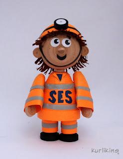 SES 3D quilling rescue man