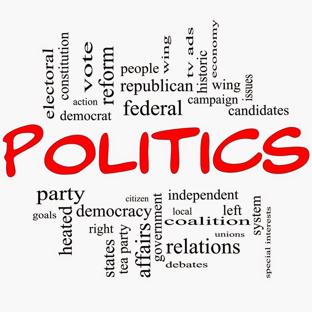 Image of politics text