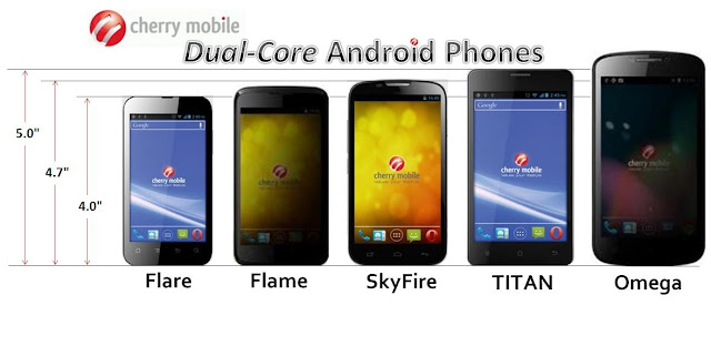 Cherry Mobile Flame and Cherry Mobile Omega, Flare, Skyfire, Titan
