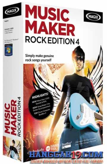 Download MAGIX Music Maker Rock Edition 4 v6.0.0.6 (Aplikasi untuk
