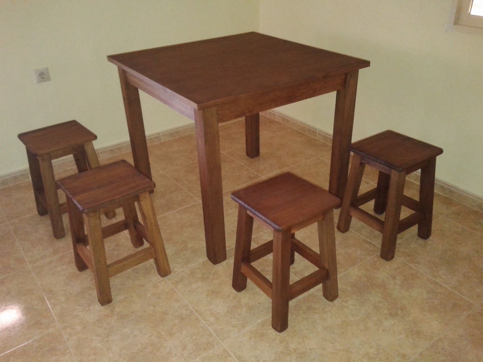 Mesa redonda o taburetes comedor mesa redonda alta o - Mesa alta con taburetes ...