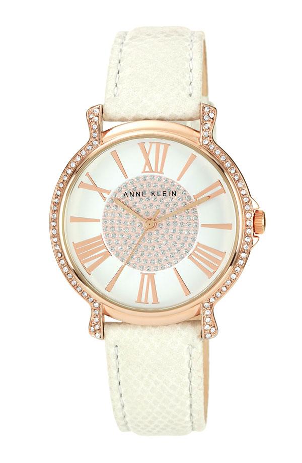 Boutique malaysia anne klein round leather strap watch for Anne klein leather strap