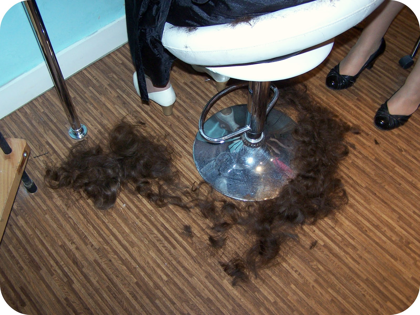 Cut Hair On Floor
