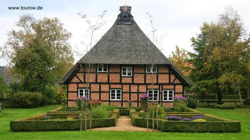 Casa de campo tradicional alemana del siglo 18