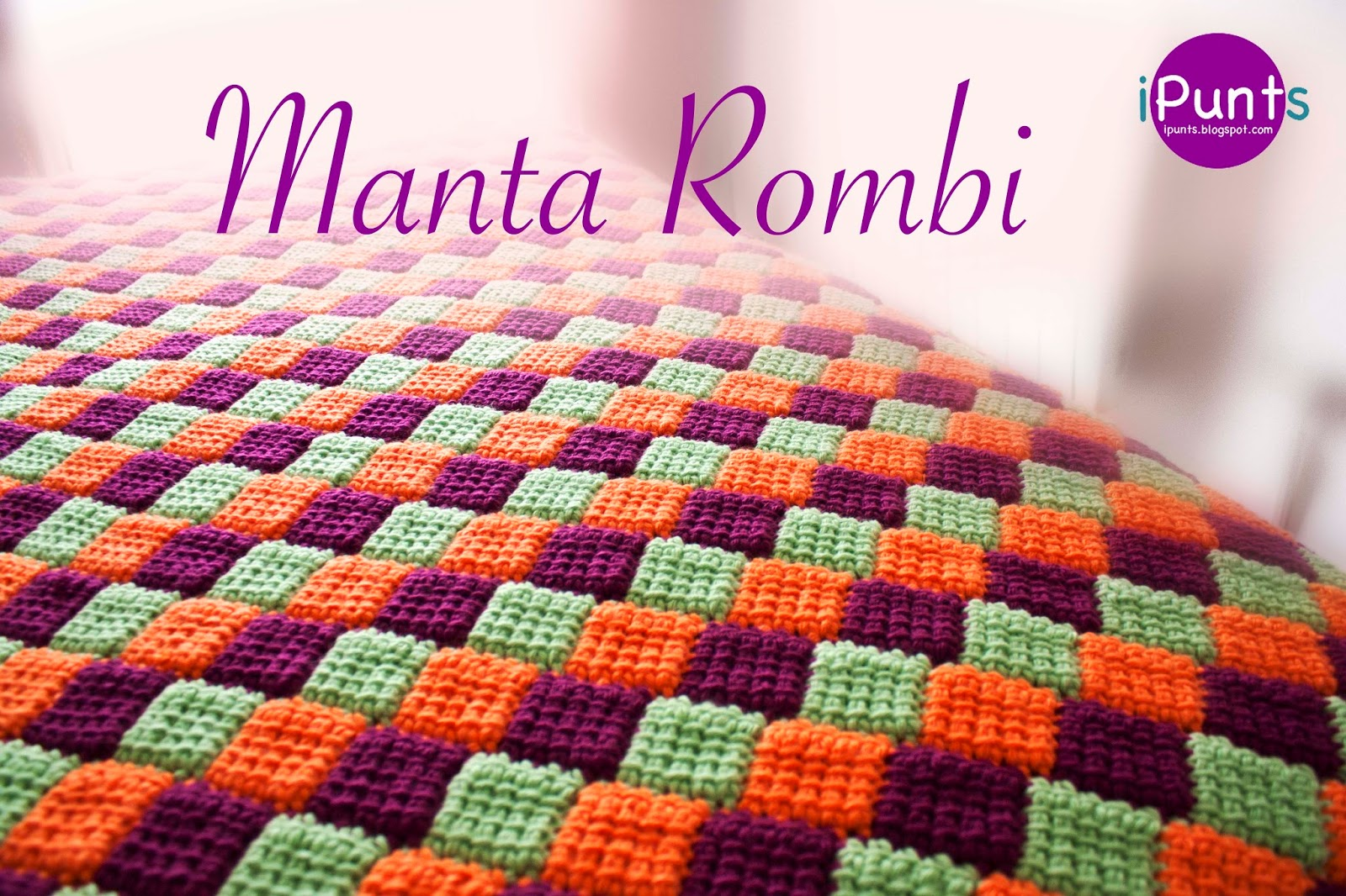 Manta Rombi Entrelac a Crochet Paso a Paso Patrón y Video Tutorial ...