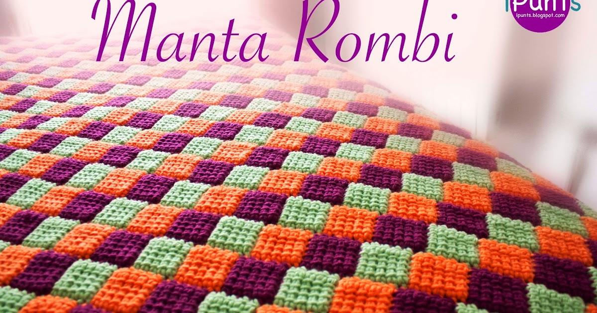 iPunts: Manta Rombi. Entrelac a crochet