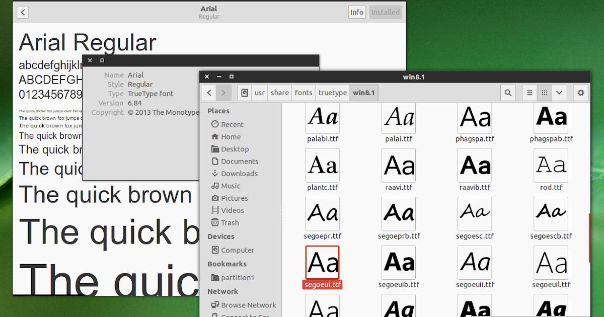 linux шрифты: