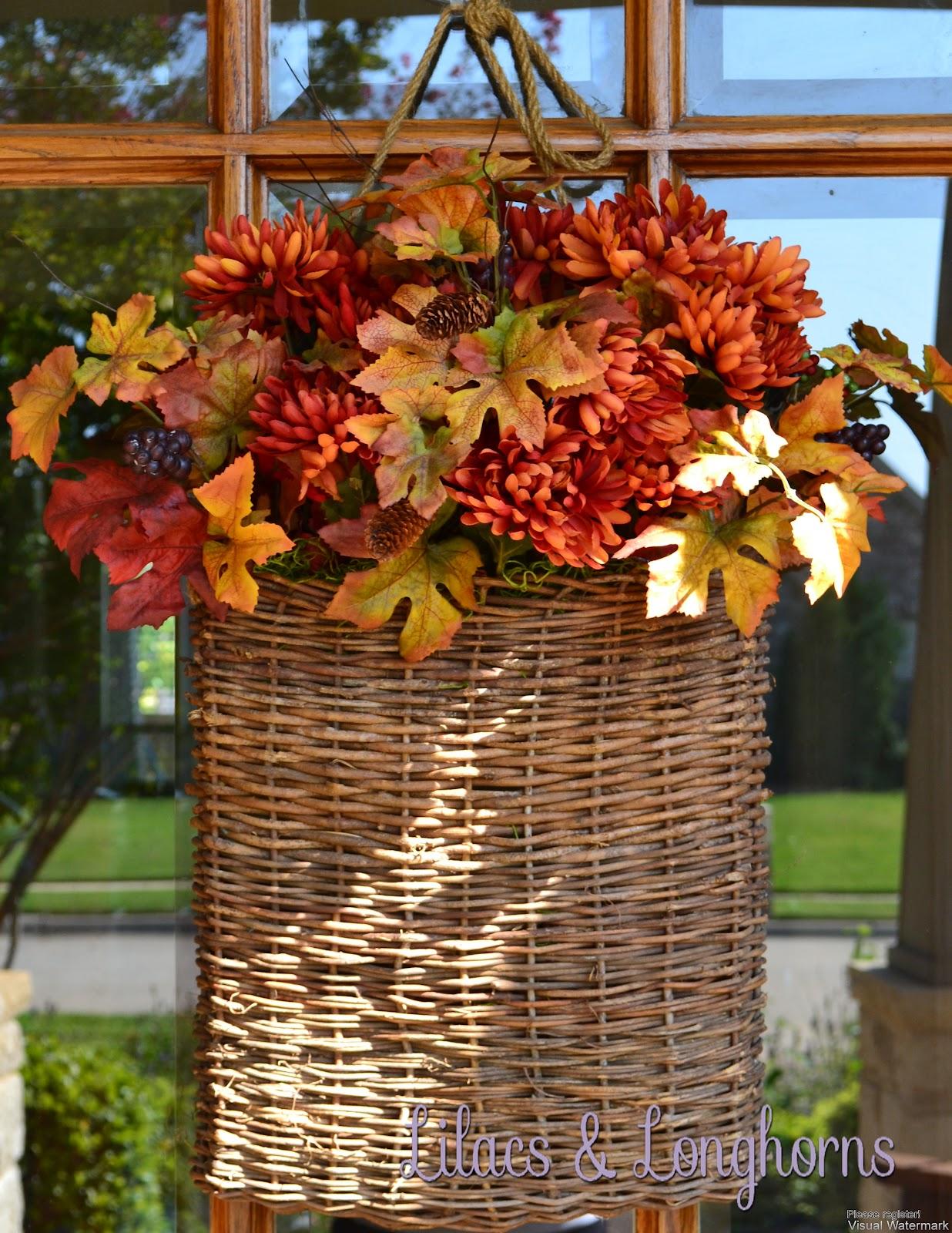 Fall Decorating Outdoors Lilacs And Longhornslilacs And Longhorns