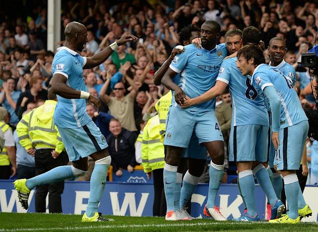 O Manchester City lidera o Campeonato Inglês, com nove pontos em três jogos (foto: Oli Scarff/AFP)