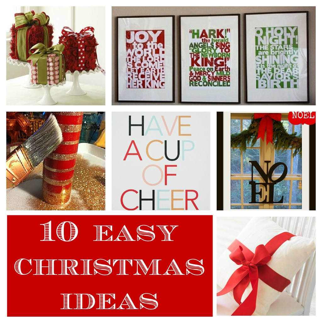 Simple Christmas Home Decorations: Home Made Modern: Pinterest: Easy Christmas Decorating Ideas
