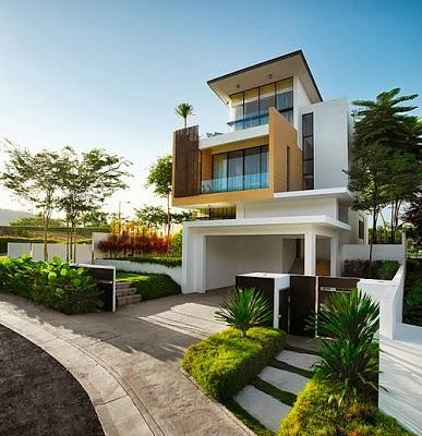 Exterior design for Minimalist house jakarta