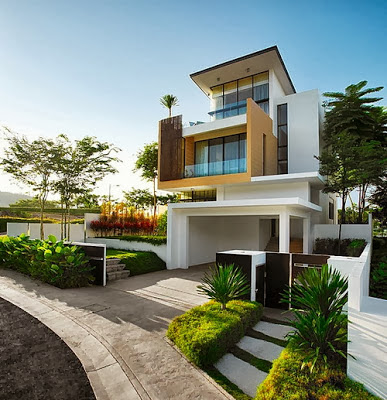 Exterior design for Modern house design outside