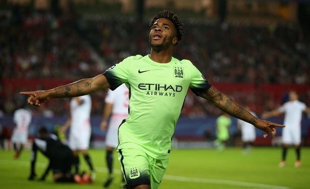 In the goals: Sterling has enjoyed a fruitful start to his City career