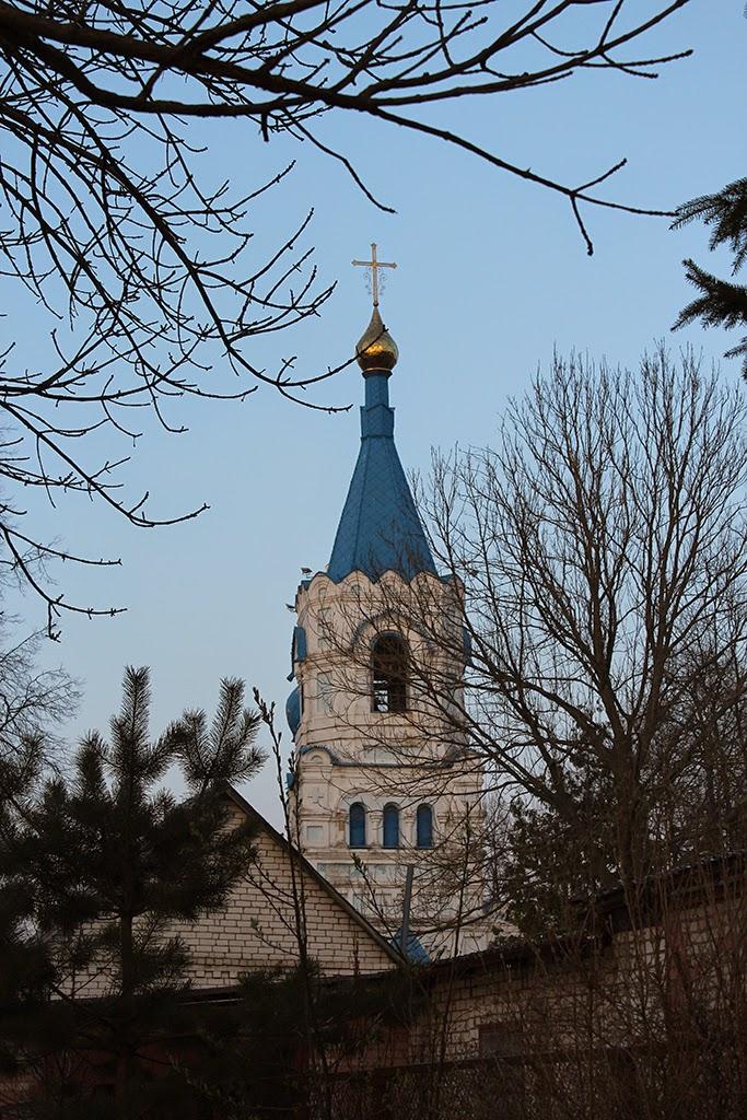 Колокольня Ильинской церкви со стороны Днепра в городе орша