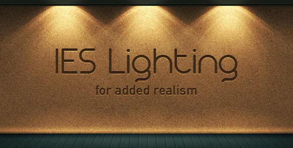 Realistic IES Lighting Effect