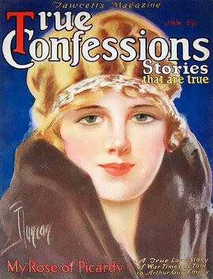 chica de los años veinte en portada de revista para scrapbooking