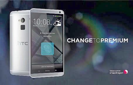 HTC One Max Silver 4G comparaison smartphone