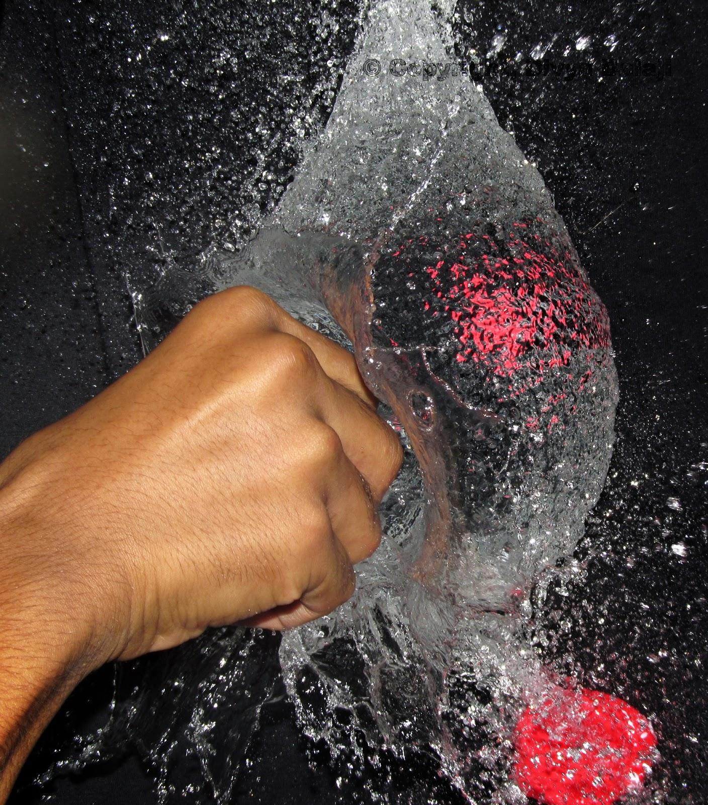 water balloon burst - punch