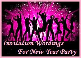 What to write in a New Year Party Invitation card