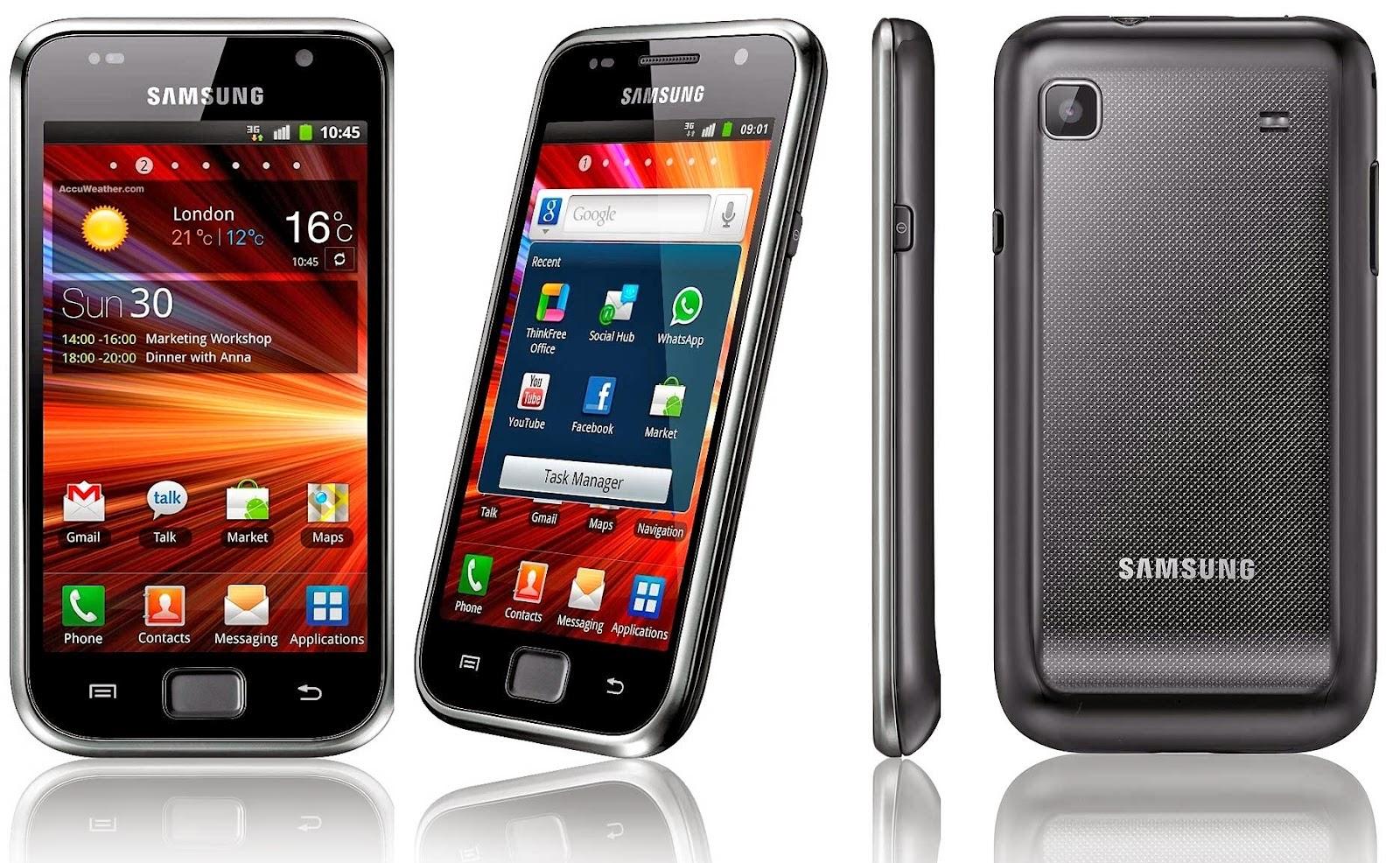 Мобильный телефон Samsung Galaxy S Plus I9001 в тонком корпусе с рельефной отделкой с ярким 4-дюймовым Super AMOLED дисплеем