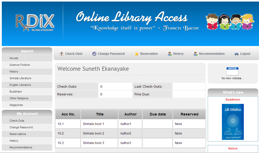 Web Based Library Management System Project Topic