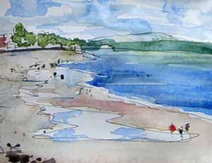 Alki Beach, low tide
