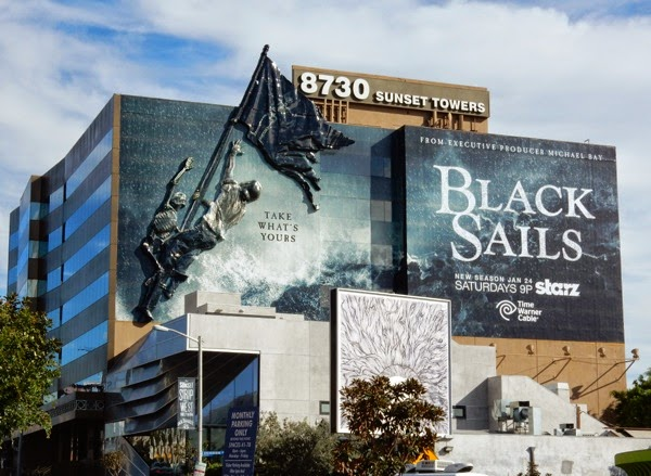 3D Black Sails season 2 billboard installation