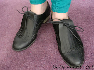 shoe fringe DIY tutorial