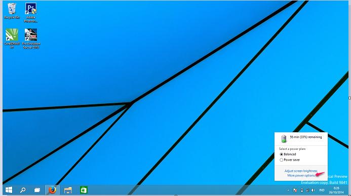 klik ikon baterai