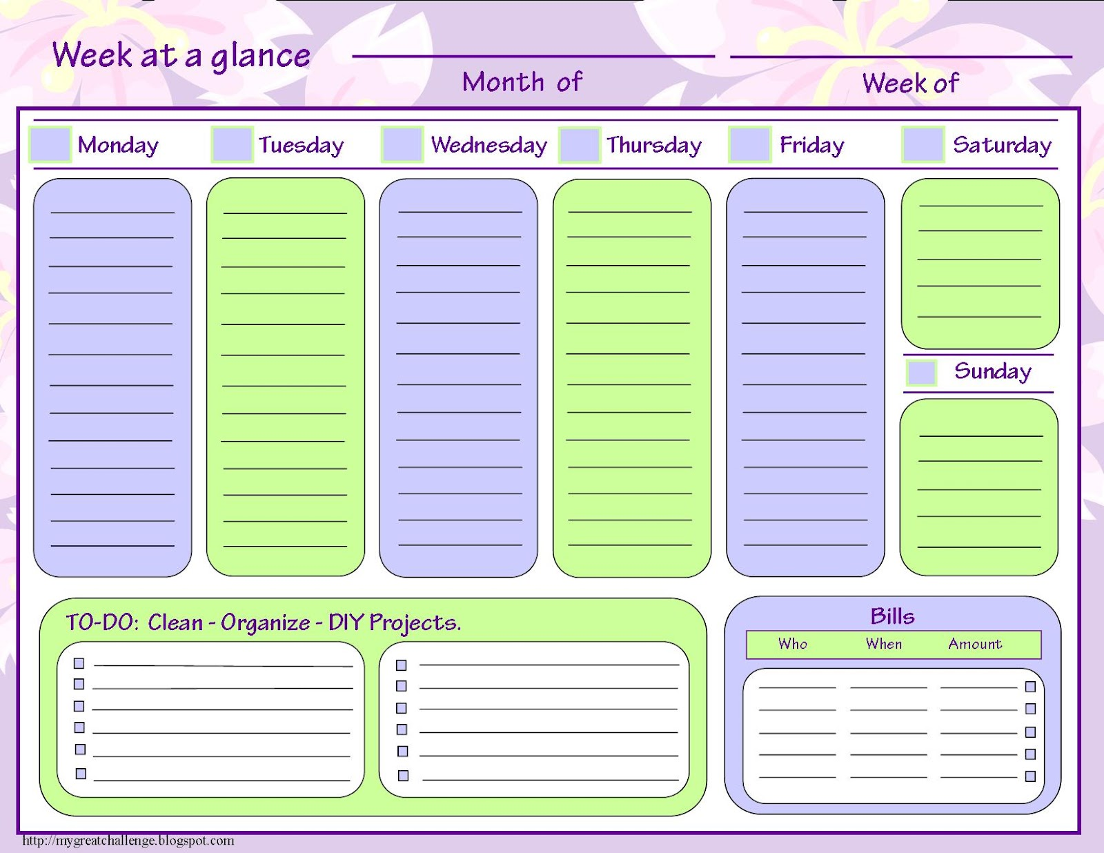 Home Organization Calendar System : My great challenge home management filing system templates