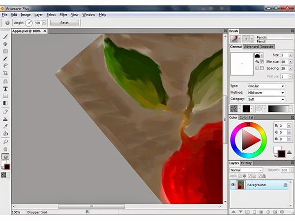 برنامج مجاني لتصميم وتحرير الصور بديل للفوتوشوب مع دعم طبقات متعددة Artweaver Free 5