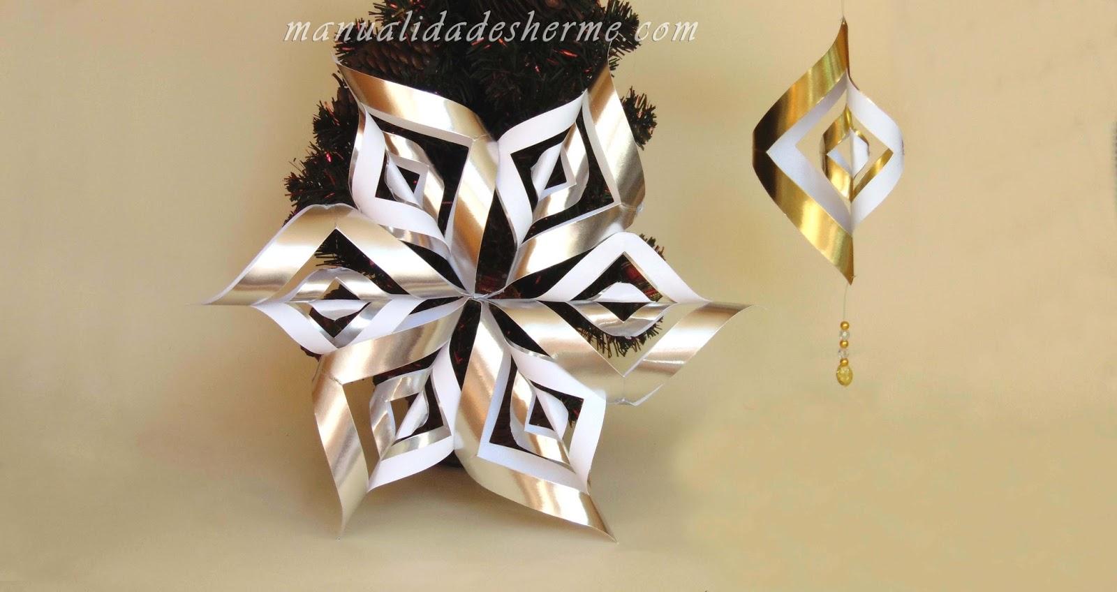 Manualidades herme como hacer una estrella twister para - Como hacer estrellas de navidad ...