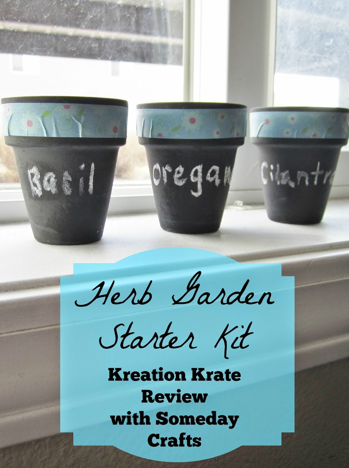 Kreation Krate Herb Garden Starter Kit and Review