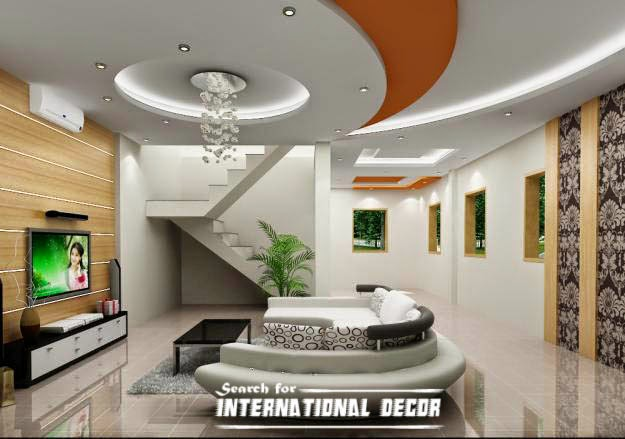 Exclusive catalog of false ceiling pop design for modern for Interior house design ceiling
