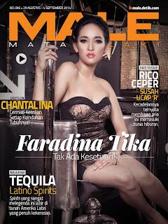 Foto Faradina Tika di Cover Majalah Male Agustus 2014
