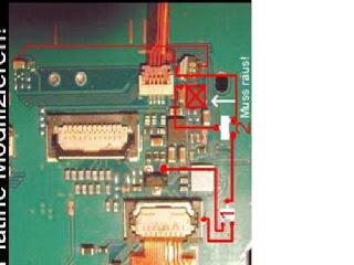 Jalur LED LCD K510 Mati