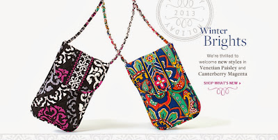 Vera Bradley Winter Prints release today Venetian Paisley ~ Canterberry Magenta