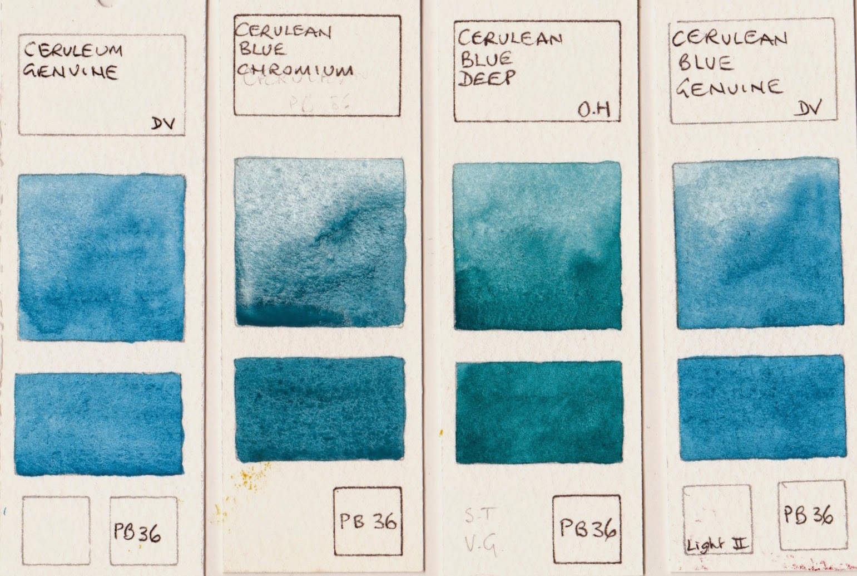 jane blundell artist watercolour comparisons 8 blues. Black Bedroom Furniture Sets. Home Design Ideas