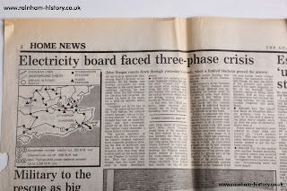 Electricity power cuts during Great storm 1987
