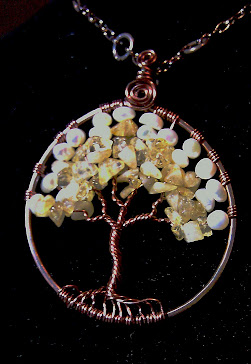 Tree of life with citrine and pearls