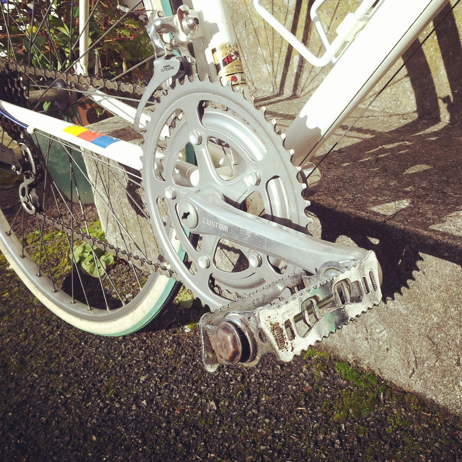 vintage raleigh road bike crankset