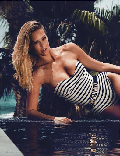 Bar Refaeli sexy swimsuit photo shoot for GQ Germany magazine October 2015