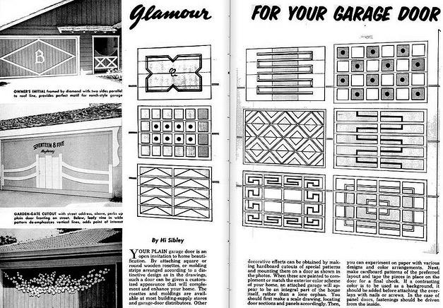 drawn garage doors paint your garage door 50s retro renovation style garage doors