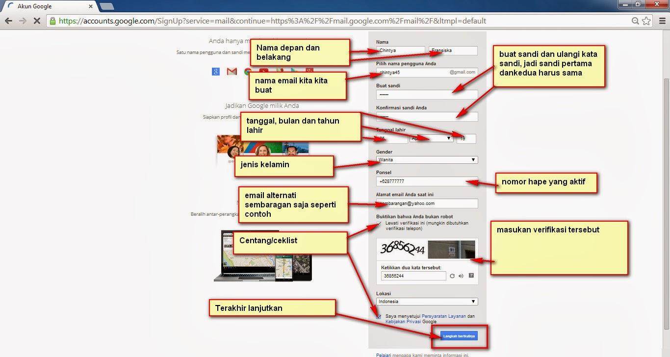 Cara Membuat Email Dan Akun Google Plus ( g+ )