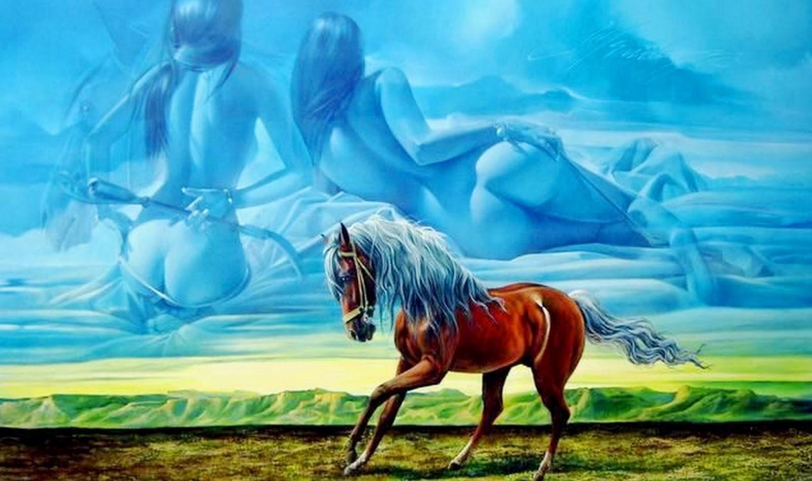 Surrealismo Hiperrealismo En Cuadros De Caballos Pintados Al Leo