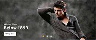Flipkart men's Winter Wear Sale  get Upto 70% Off